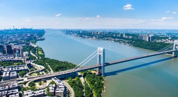 Hudson River / George Wash. Bridge - New York City